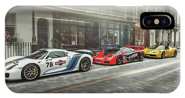 Porsche 918 Mclaren F1 Gtr And Ferrari 458 Specialea IPhone Case