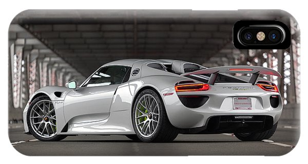 IPhone Case featuring the photograph #porsche #918spyder #print by ItzKirb Photography