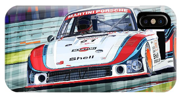 Mixed-media iPhone Case - Porsche 935 Coupe Moby Dick Martini Racing Team by Yuriy Shevchuk