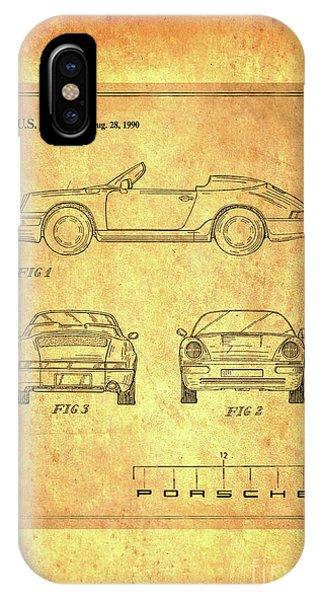 Porsche Blueprint IPhone Case