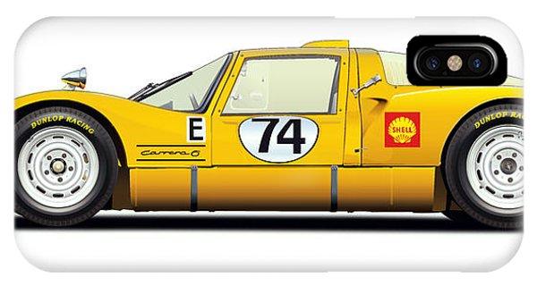 Holland iPhone Case - Porsche Carrera 906 Illustration by Alain Jamar