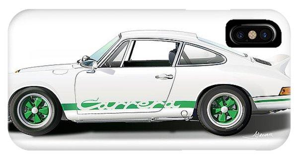 Digital Image iPhone Case - Porsche Carrera Rs Illustration by Alain Jamar
