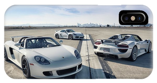 #porsche #carreragt,  #918spyder,  #cayman #gt4 IPhone Case
