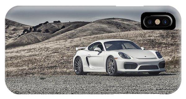 Porsche Cayman Gt4 In The Wild IPhone Case