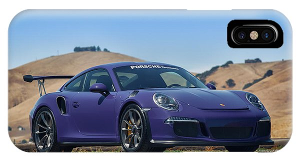 #porsche #gt3rs #ultraviolet IPhone Case