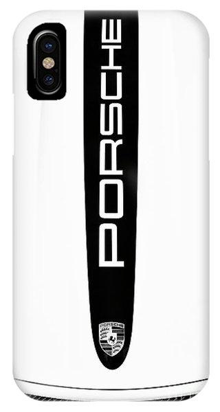 Motif iPhone Case - Porsche Monochrome  by Tim Gainey