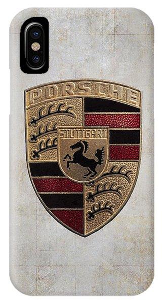 Coat iPhone Case - Porsche Shield by Daniel Hagerman