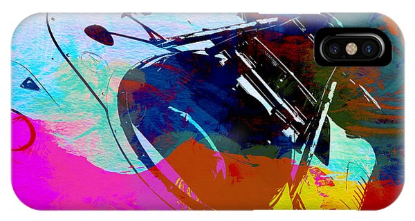 Porsche Watercolor IPhone Case