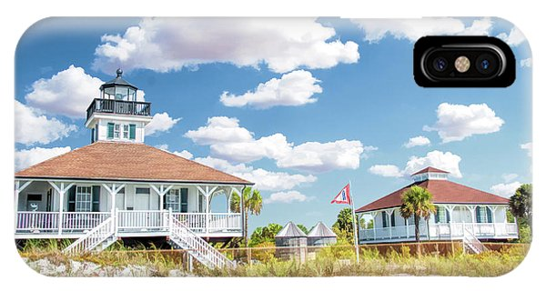 IPhone Case featuring the painting Port Boca Grande Lighthouse by Christopher Arndt