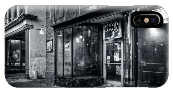 Port City Java In Black And White IPhone Case