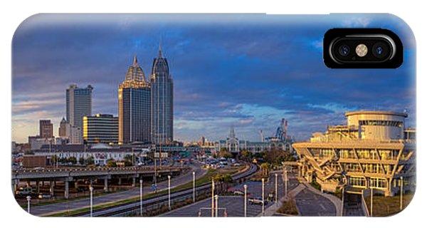 Port City Skyline Panorama IPhone Case