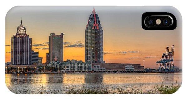Port City Sunset 2 IPhone Case