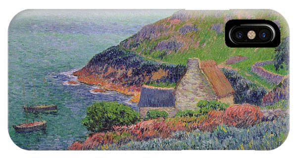 Heather iPhone Case - Port Manech by Henry Moret