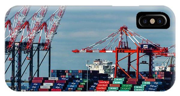 Port Newark Container Terminal IPhone Case