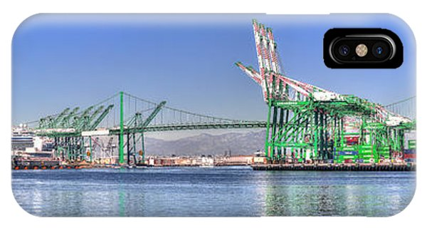 Port Of Los Angeles - Panoramic IPhone Case
