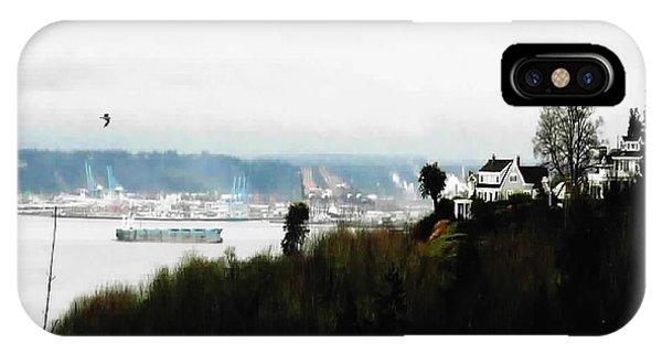Port Of Tacoma At Ruston Wa IPhone Case