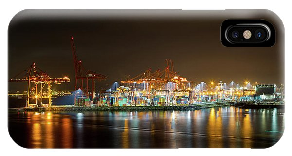 Port Of Vancouver Bc At Night IPhone Case