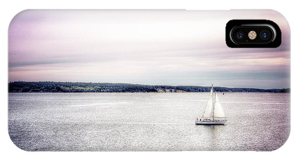 Port Townsend iPhone Case - Port Townsend Sailboat by Spencer McDonald