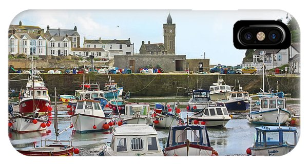 Porthleven Inner Harbour IPhone Case