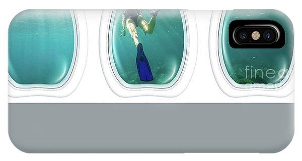 Porthole Windows On Coral Reef IPhone Case