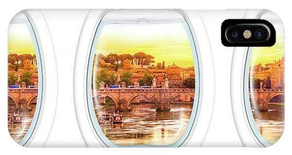 Porthole Windows On Rome IPhone Case