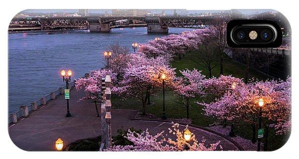 Portland Cherry Blossoms IPhone Case