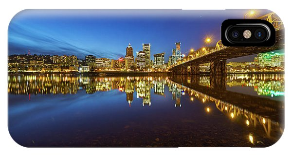 Portland Downtown Blue Hour IPhone Case