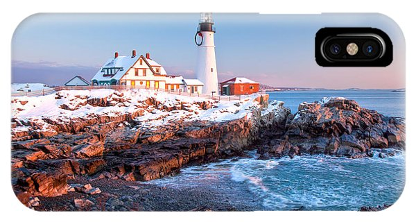 Portland Head Greets The Sun IPhone Case