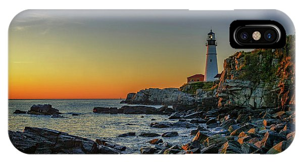 Portland Head Light At Dawn IPhone Case