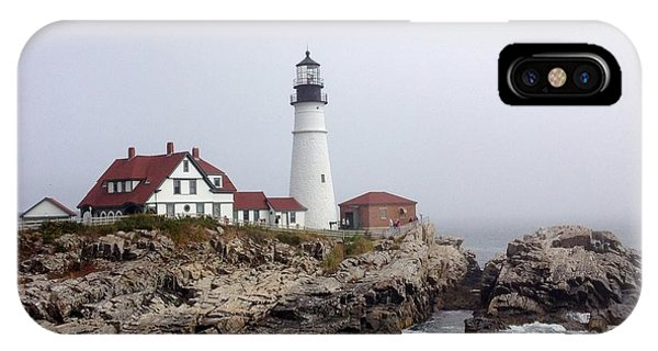 IPhone Case featuring the photograph Portland Head Light by Barbara Von Pagel