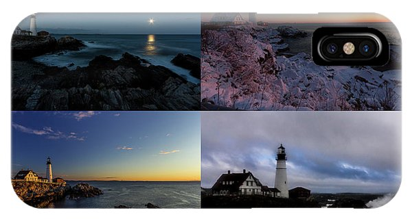 IPhone Case featuring the photograph Portland Head Light Day Or Night by Darryl Hendricks