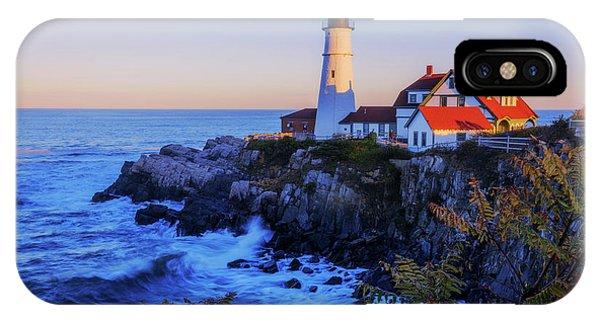 Lighthouse iPhone Case - Portland Head Light II by Chad Dutson