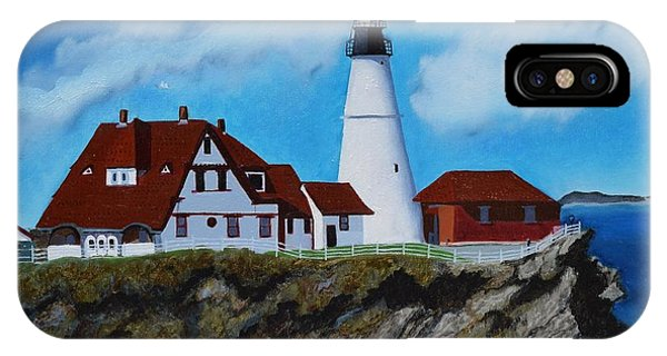 Portland Head Light In Maine Viewed From The South IPhone Case