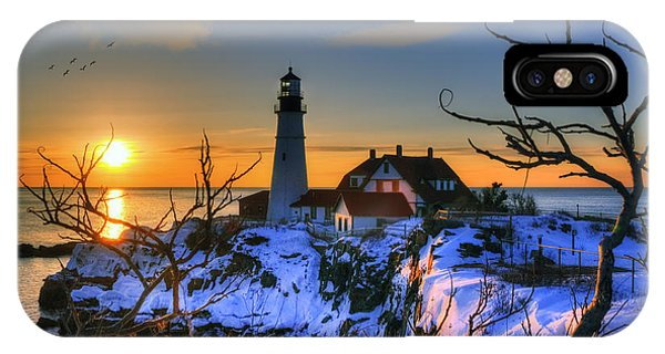 Portland Head Light Sunrise - Maine IPhone Case
