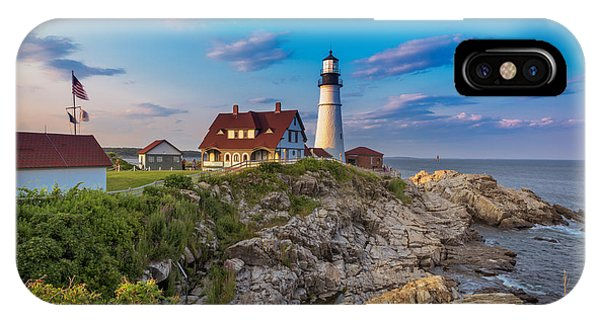 IPhone Case featuring the photograph Portland Head Lighthouse by Cindy Lark Hartman