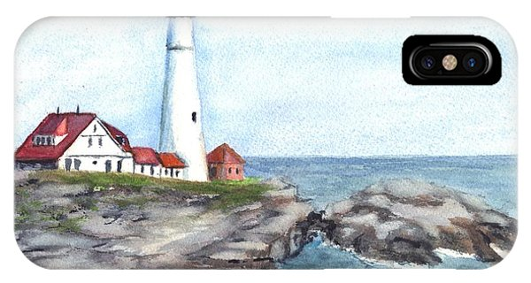 Portland Head Lighthouse Maine Usa IPhone Case