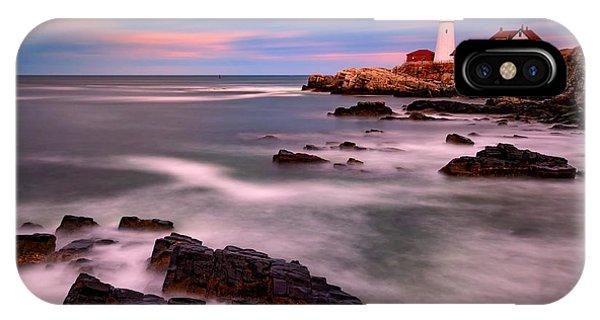 Navigation iPhone Case - Portland Head Lighthouse by Rick Berk