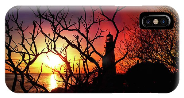 Portland Head Lighthouse Silhouette IPhone Case