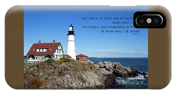 IPhone Case featuring the photograph Portland Head Lighthouse by Steven Frame