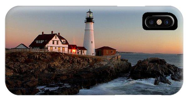 Portland Head Lighthouse Sunrise IPhone Case