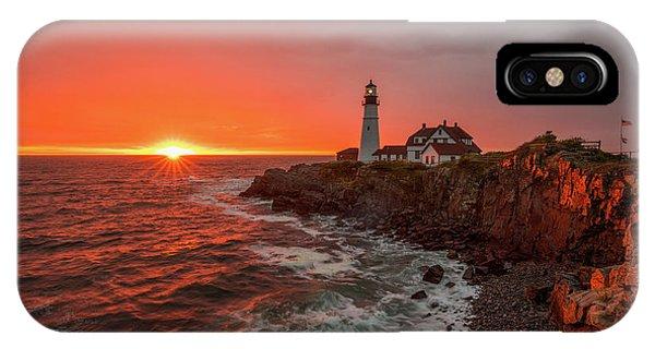 Portland Head Sunrise IPhone Case