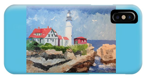 Portland Headlight By The Sea IPhone Case
