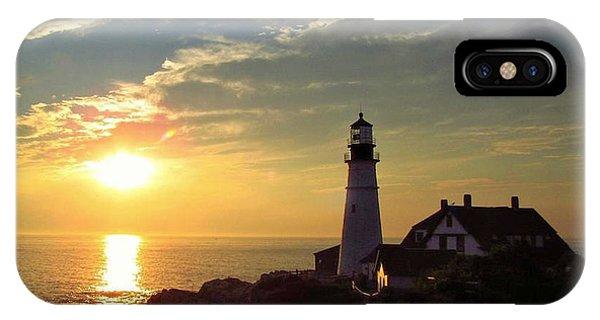 Portland Headlight Sunbeam IPhone Case