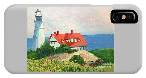 Portland Headlight With Brown Eyed Susans IPhone Case
