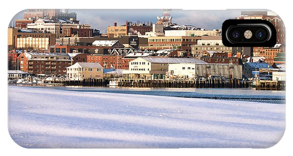Portland Maine Winter Skyline IPhone Case
