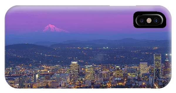 Portland Oregon Cityscape At Dusk IPhone Case