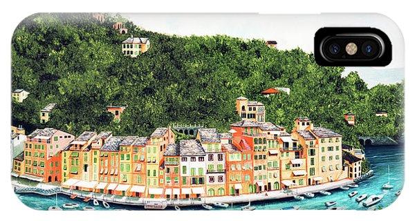 Portofino, Italy Prints From Myoriginal Oil Painting IPhone Case