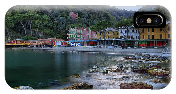 IPhone Case featuring the photograph Portofino Mills Valley With Paraggi Bay And Beach by Enrico Pelos