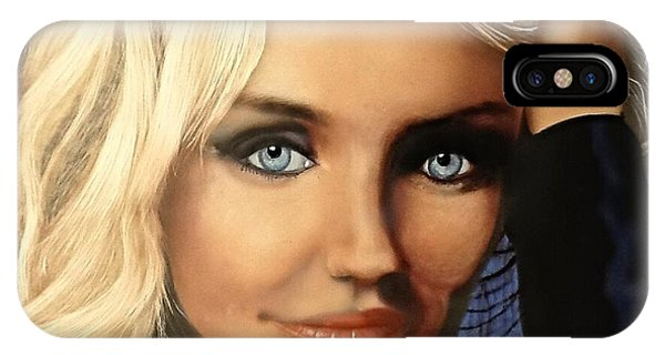 Cameron Diaz Portrait  IPhone Case