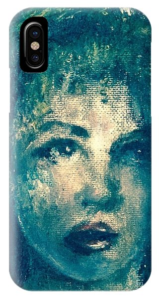 IPhone Case featuring the photograph Portrait In Blue by Laurie Lundquist